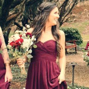 Strapless Bridesmaid Dress - Wine - Bill Levkoff